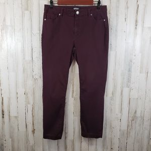 Buffolo David Bitton Womens Pants Purple Five Pkt
